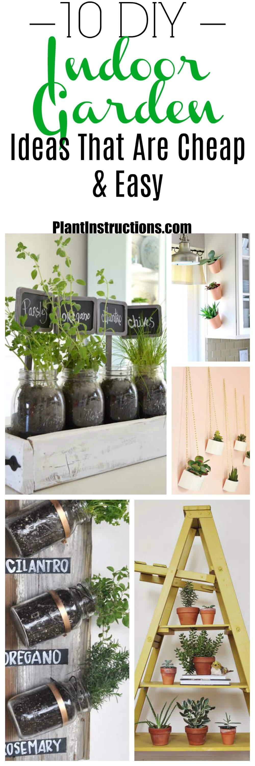 10 indoor garden ideas that are cheap and easy plant instructions these indoor garden ideas are perfect for those who live in a cooler climate or want workwithnaturefo