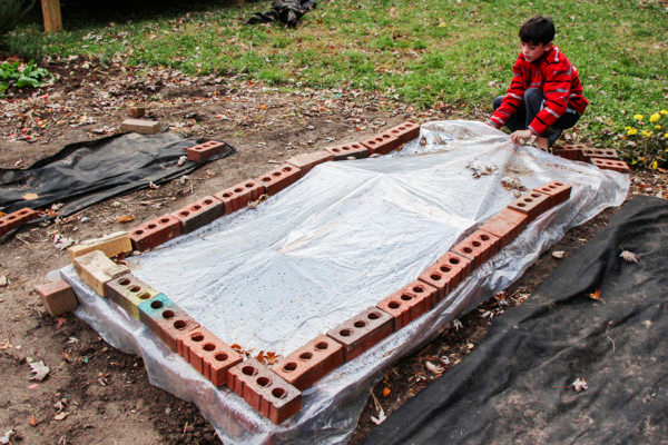 brick and plastic cold frame